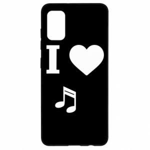 Etui na Samsung A41 I love music