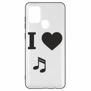 Etui na Samsung A21s I love music