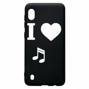 Etui na Samsung A10 I love music