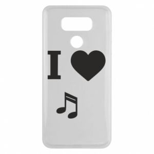 Etui na LG G6 I love music