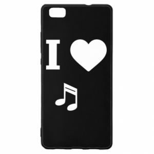 Etui na Huawei P 8 Lite I love music