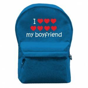 Plecak z przednią kieszenią I love my boyfriend