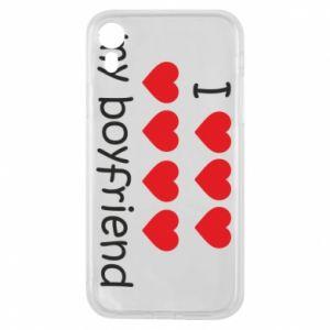 Etui na iPhone XR I love my boyfriend