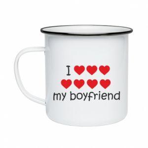 Kubek emaliowany I love my boyfriend
