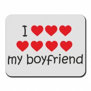 Podkładka pod mysz I love my boyfriend