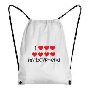 Plecak-worek I love my boyfriend