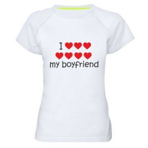 Koszulka sportowa damska I love my boyfriend