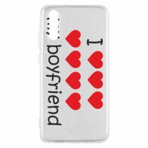 Etui na Huawei P20 I love my boyfriend