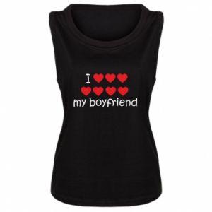 Damska koszulka bez rękawów I love my boyfriend