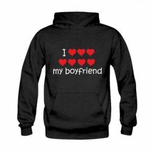 Bluza z kapturem dziecięca I love my boyfriend