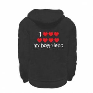 Bluza na zamek dziecięca I love my boyfriend