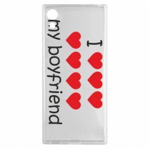 Etui na Sony Xperia XA1 I love my boyfriend