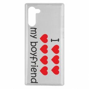 Etui na Samsung Note 10 I love my boyfriend