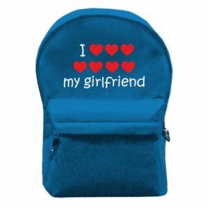 Plecak z przednią kieszenią I love my girlfriend