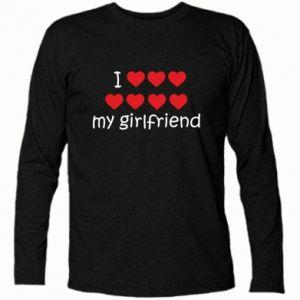 Koszulka z długim rękawem I love my girlfriend