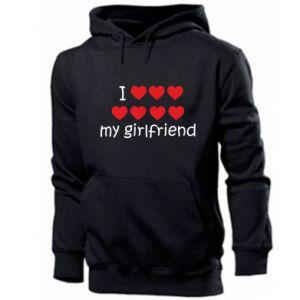 Męska bluza z kapturem I love my girlfriend