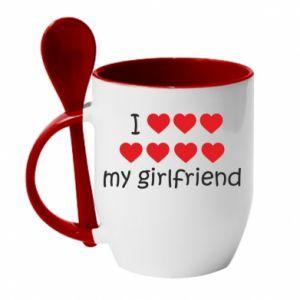 Kubek z ceramiczną łyżeczką I love my girlfriend