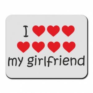 Podkładka pod mysz I love my girlfriend