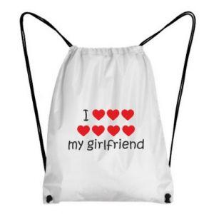 Plecak-worek I love my girlfriend