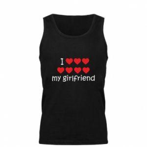 Męska koszulka I love my girlfriend