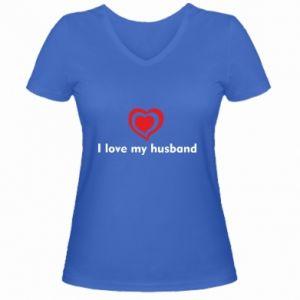 Women's V-neck t-shirt I love my husband