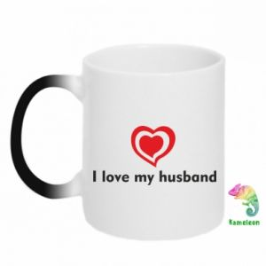 Chameleon mugs I love my husband