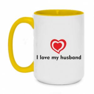 Kubek dwukolorowy 450ml I love my husband