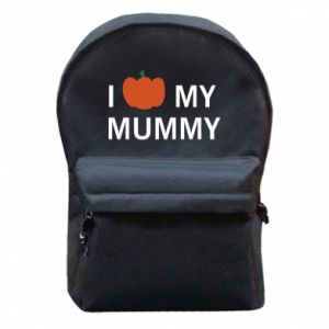 Backpack with front pocket I love my mummy - PrintSalon