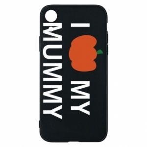 Phone case for iPhone XR I love my mummy - PrintSalon