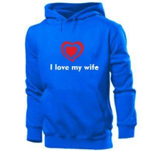 Męska bluza z kapturem I love my wife