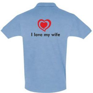 Men's Polo shirt I love my wife