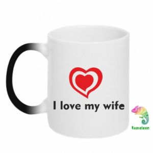 Kubek-kameleon I love my wife