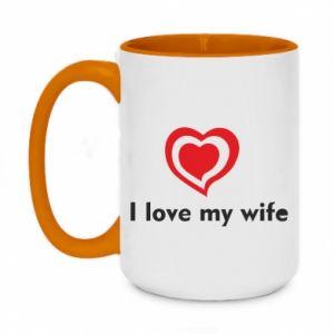 Kubek dwukolorowy 450ml I love my wife