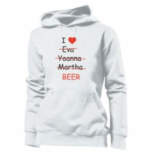 Damska bluza I love only beer - PrintSalon