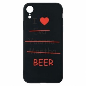 Etui na iPhone XR I love only beer - PrintSalon