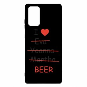 Samsung Note 20 Case I love only beer