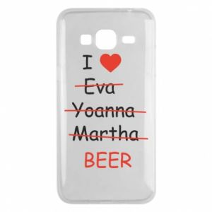 Etui na Samsung J3 2016 I love only beer - PrintSalon