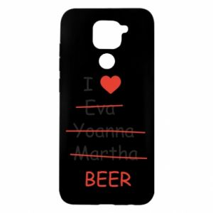 Xiaomi Redmi Note 9 / Redmi 10X case % print% I love only beer