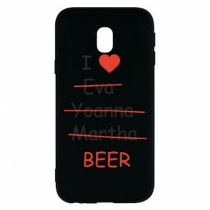 Etui na Samsung J3 2017 I love only beer - PrintSalon