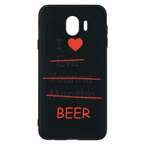 Etui na Samsung J4 I love only beer - PrintSalon