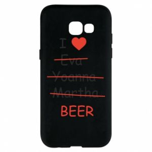 Etui na Samsung A5 2017 I love only beer - PrintSalon