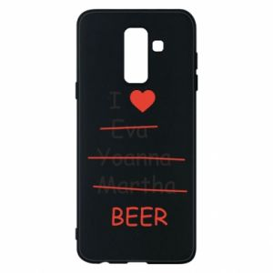 Etui na Samsung A6+ 2018 I love only beer - PrintSalon