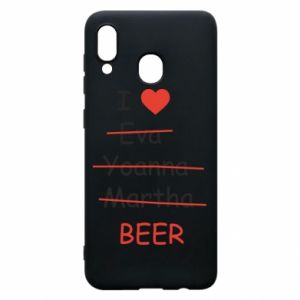 Etui na Samsung A20 I love only beer - PrintSalon