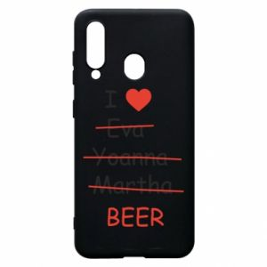 Etui na Samsung A60 I love only beer - PrintSalon