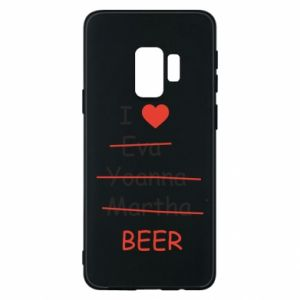 Etui na Samsung S9 I love only beer - PrintSalon