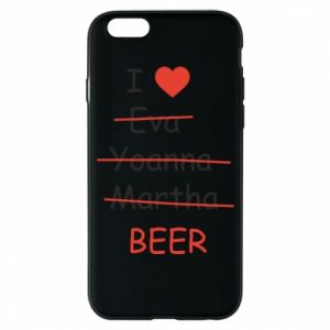 Etui na iPhone 6/6S I love only beer - PrintSalon