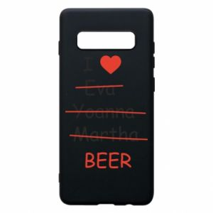 Etui na Samsung S10+ I love only beer - PrintSalon
