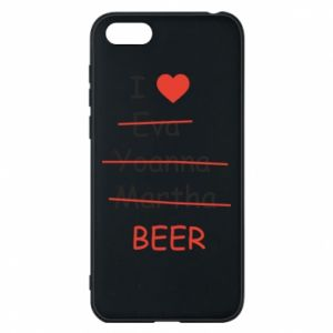 Etui na Huawei Y5 2018 I love only beer - PrintSalon