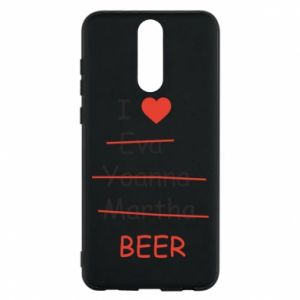 Etui na Huawei Mate 10 Lite I love only beer - PrintSalon