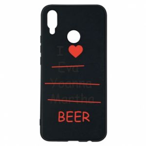 Etui na Huawei P Smart Plus I love only beer - PrintSalon